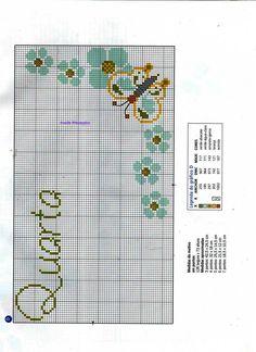 Anaide Ponto Cruz: Gráficos em ponto cruz de semaninhas.