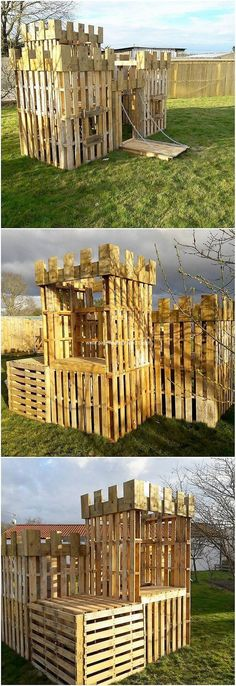 This wood pallet castle idea has always come up to be one of the best idea in terms of the wood pallet usage in the house garden decorations. This has been somehow carried out with the perfect alternative which you can best make it place in the house garden areas.