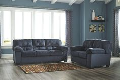 Fall in love with the Dailey Midnight Sofa, Loveseat, Rocker Recliner & Ottoman by Signature Design by Ashley at Direct Value Furniture proudly serving Roscoe, IL and surrounding areas for over 10 years! Ashley Furniture, Black Friday Furniture, Sofa, Furniture, Love Seat, Mattress Furniture, Ashley Furniture Homestore, Sofa Set, Ashley Furniture Sofas