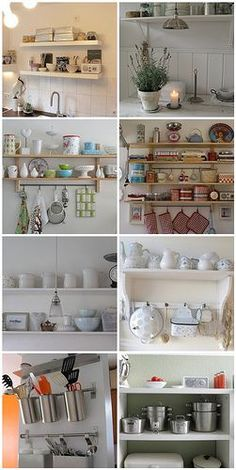 kitchen shelves inspiration: 4 different styles, choose yours by catarina clemente♡, via Flickr