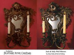 Nightmare Before Christmas Bronze Wall Mirrors
