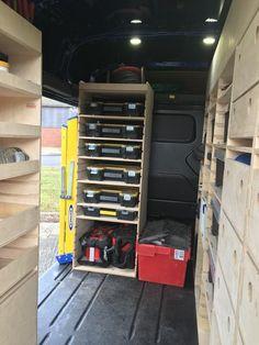 Custom Solutions Customer images – Custom Solutions UK Dewalt Tough System, Van Racking, Transit Custom, Vans Store, Side Door, Plywood Furniture, Shoe Rack, Tools, Instruments