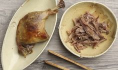 For the best Duck Confit recipe, try substituting duck fat with olive oil:  #Recipes #Duck