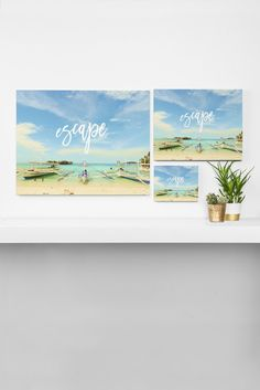Happee Monkee Escape Beach Series Art Canvas   DENY Designs Home Accessories