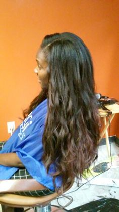Crochet braids using Expression Kanekalon hair with leave out.  Servicing the DMV area. Styleseat.com/LoveMyNaturalality