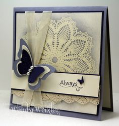 CT0811 - Wisteria Butterfly by Wendybell - Cards and Paper Crafts at Splitcoaststampers