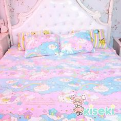 Little Twin Stars - 100x100cm Plush Quilt - Kawaii, Harajuku, Fairy Kei - FREE SHIPPING