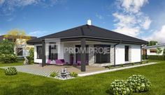 dom  4, Promiprojekt Bungalow, Spanish Exterior, House Front Design, Small House Plans, Home Fashion, Gazebo, Home And Garden, Outdoor Structures, Mansions