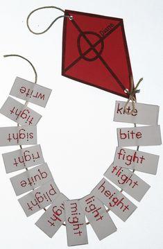 Kite activities: Kite craft: FREE words that rhyme with kite craft.