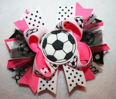 Soccer Boutique Stacked Hair Bow
