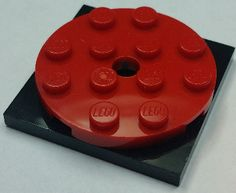 BrickLink - Part 60474c01 : Lego Turntable 4 x 4 x 2/3 Top with Black Square Base, Free-Spinning, Complete Assembly (60474 / 61485) [Turntable] - BrickLink Reference Catalog