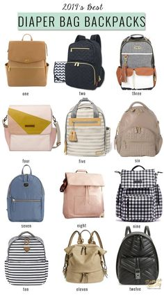 A round up of the best diaper bag backpacks for I've also created a helpful checklist of diaper bag essentials for the new mama. Best Backpack Diaper Bag, Cute Diaper Bags, Buy Backpack, Studded Backpack, Faux Leather Backpack, Dad Diaper Bag, Stylish Diaper Bags, Toddler Diaper Bag, Designer Purses
