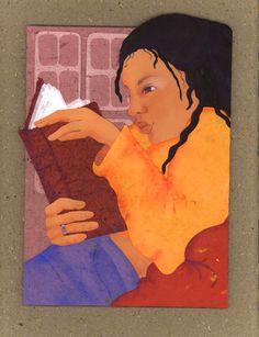 Absorption in reading / Ensimismamiento en la lectura (ilustración de Jill Dubin)
