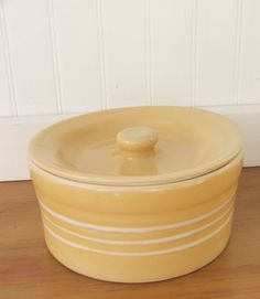 Yellowware Butter Crock by Tobacco Shed Pottery