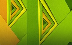 Download wallpapers triangles, art, geometry, geometric shapes, green background