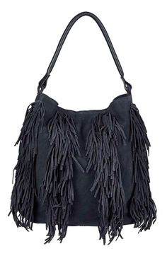 Topshop Fringe Suede Hobo Bag available at #Nordstrom