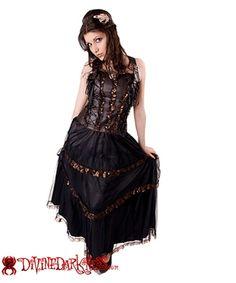 Steampunk Long Dress