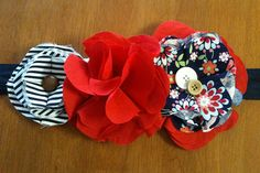 Flower ribbon belt