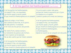Canción y actividad: A mí me gustan la hamburguesas (Los Piratas) Spanish Classroom, Teaching Spanish, Hispanic Heritage, Health Lessons, How To Speak Spanish, Reading Skills, Writing Activities, Rubrics, Healthy Lifestyle