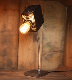 Vintage Brownie Camera Lamp by Eastchester & Orange on Scoutmob Shoppe