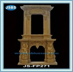 Stone Carved marble fireplace mantel Marble Fireplace Mantel, Marble Fireplaces, Fireplace Surrounds, Fireplace Mantels, Marble Carving, Wooden Crates, Animal Sculptures, Travertine, Fountain