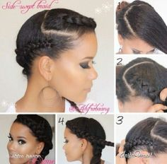 Super cute braided style by @ahfro_baang
