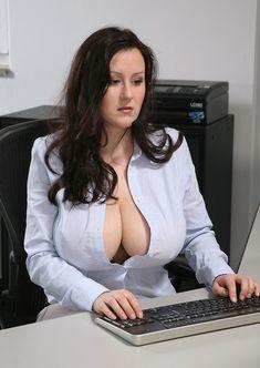 Open Busty blouse