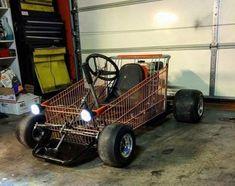 Funny Pics ~ shopping cart go kart Karting, Motocross Vintage, Kart Cross, Go Kart Plans, Diy Go Kart, Drift Trike, Radio Flyer, Car Memes, Funny Memes