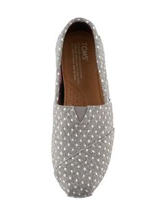TOMS Shoes Polka-Dot Slip-On, Gray