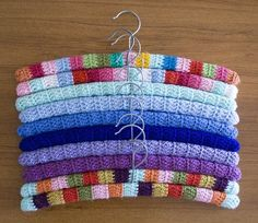 Crocheted Clothes Hangers - Tutorial