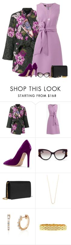 """""""Floral Coat"""" by amwmik ❤ liked on Polyvore featuring Ermanno Gallamini, J.Crew, Prada, EF Collection and Cartier"""