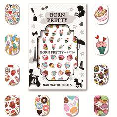 4.01$  Buy now - http://ali6m6.shopchina.info/go.php?t=32778431273 - 5 Sheets/Set BORN PRETTY Watermark Decals Lovely Dessert Pattern Nail Art Transfer Sticker BPY26-30 4.01$ #magazineonlinewebsite