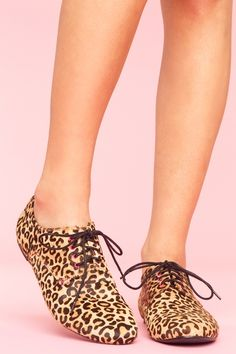 leopard print oxfords ..