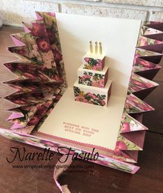 Simply Stamping with Narelle: Explosion Pop Up Card Birthday Card Pop Up, 18th Birthday Cards, Homemade Birthday Cards, Homemade Cards, Fancy Fold Cards, Folded Cards, Cool Cards, Diy Cards, Diy Crafts For Gifts