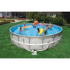 "Intex 18' x 48"" Ultra Frame Swimming Pool 499$ need a ladder too"
