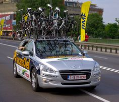 Locozoom: Peugeot 508 - Vacansoleil Pro Cycling Team car