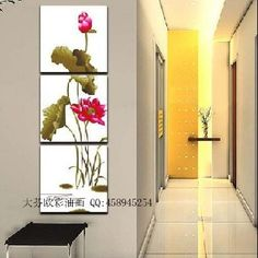 (Enquiry before order) Pure flower frameless picture decoration home paintings lotus 6397 $54.62
