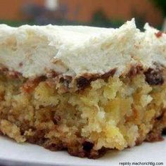 Pineapple Pecan Cake with Cream Cheese Frosting -