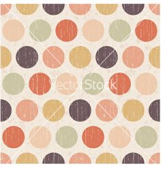 Seamless retro polka dots background vector - by paul_june on VectorStock®