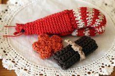 おせち料理(えび、にんじん、昆布巻き)_かぎ針編み