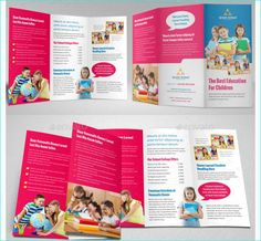 School Brochure Template For Education Institution School - School brochures templates