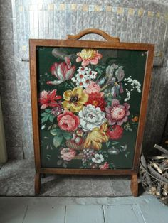 19th Century Pole Fire Screen with Tapestry Screen Only | eBay ...
