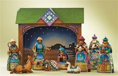 10 Piece Nativity Small
