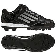SALE - Adidas Hotstreak Baseball Cleats Kids Black - BUY Now ONLY $30.00
