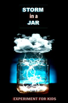 Learn all about weather clouds and how they form with the storm in-a-jar experiment for kids.  This glow in the dark science project is sure to wow all ages! #storminajar #storminajarscienceexperiments #storminabottle #stormjar #stormjardiy #stormjarforkids #raincloudinajar #scienceexperimentskids #scienceforkids