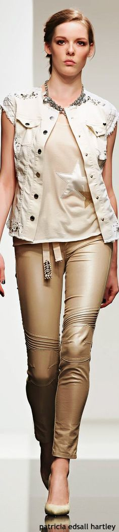 Twin-Set Jeans - SS 2015 women fashion outfit clothing style apparel @roressclothes closet ideas