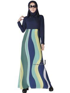2015 moslim jurk abaya islamitische kleding voor vrouwen hijab dubai jibabs kaftan fashion zijde strepen abaya lange jurken KJ150308 in Muslim clothing Islamic coat spring autumn fashion maxi trench coat for women striped plus size three quarter female out van   op AliExpress.com | Alibaba Groep