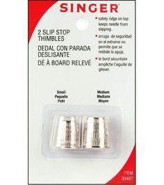 Singer 04487 Slip-Stop Thimble 2 Piece Per Pack