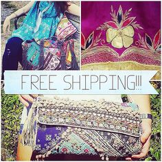 Free shipping this weekend only! Enter the code INSTAFREE on our website or Etsy shop at checkout to take advantage of this offer. Starts now & expires Midnight Sunday September 20th. #freeshipping #cushioncovers #banjara #blankets #stoles #scarves #bloomsburyhawkes #beaded #vintage #indianstyle #boho #bohochic #bohemian #kantha #etsy #etsyuk #etsyusa #etsyindia #handbags #homedecor #hippiechic #hippie #houseandhome #housewares #gypsy #fashion #style #trendy #purses