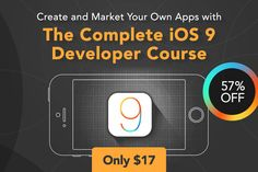 The Complete iOS 9 Developer Course (6 weeks) - only $17!